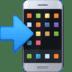 📲 Mobiele Telefoon Met Pijltje Emoji op Facebook Platform
