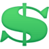 💲 heavy dollar sign Emoji on Facebook Platform