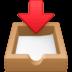 📥 inbox tray Emoji on Facebook Platform