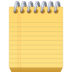 🗒️ spiral notepad Emoji on Facebook Platform