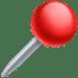 📍 Round Pushpin Emoji on Facebook Platform