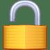 🔓 Unlocked Padlock Emoji on Facebook Platform