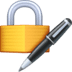 🔏 locked with pen Emoji on Facebook Platform