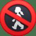 🚷 no pedestrians Emoji on Facebook Platform