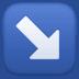 ↘️ down-right arrow Emoji on Facebook Platform
