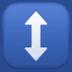 ↕️ up-down arrow Emoji on Facebook Platform