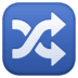 🔀 shuffle tracks button Emoji on Facebook Platform