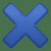 ✖️ multiplication sign Emoji on Facebook Platform
