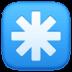 ✳️ eight-spoked asterisk Emoji on Facebook Platform