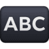 🔠 input latin uppercase Emoji on Facebook Platform