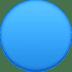 🔵 blue circle Emoji on Facebook Platform