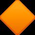 🔶 large orange diamond Emoji on Facebook Platform
