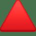 🔺 red triangle pointed up Emoji on Facebook Platform