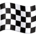 🏁 chequered flag Emoji on Facebook Platform