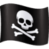 🏴‍☠️ pirate flag Emoji on Facebook Platform