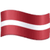 🇱🇻 flag: Latvia Emoji on Facebook Platform