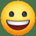 😃 Mukhang Nakangisi at Malaki ang Mata Emoji sa Facebook Platform