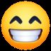 😁 Beaming Face With Smiling Eyes Emoji on Facebook Platform