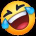 🤣 Tumbado en el suelo por la risa Emoji en plataforma Facebook