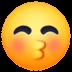 😚 kissing face with closed eyes Emoji on Facebook Platform