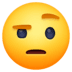 🤨 face with raised eyebrow Emoji on Facebook Platform