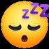 😴 sleeping face Emoji on Facebook Platform