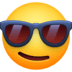 😎 Smiling Face With Sunglasses Emoji on Facebook Platform