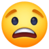 😟 worried face Emoji on Facebook Platform