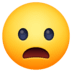 😦 frowning face with open mouth Emoji on Facebook Platform