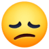 😞 disappointed face Emoji on Facebook Platform