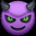 😈 Lächelndes Gesicht mit Hörnern Emoji auf der Facebook-Plattform