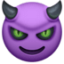 😈 Lachend Gezicht Met Hoorns Emoji op Facebook Platform