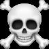 ☠️ skull and crossbones Emoji on Facebook Platform