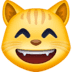 😸 grinning cat with smiling eyes Emoji on Facebook Platform