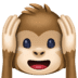 🙉 hear-no-evil monkey Emoji on Facebook Platform