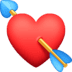💘 heart with arrow Emoji on Facebook Platform