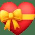 💝 heart with ribbon Emoji on Facebook Platform