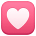 💟 heart decoration Emoji on Facebook Platform
