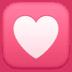 💟 Heart Decoration Emoji on Facebook Platform