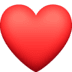 ❤️ red heart Emoji on Facebook Platform