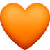 🧡 orange heart Emoji on Facebook Platform