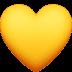 💛 Geel Hart Emoji op Facebook Platform