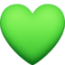 💚 green heart Emoji on Facebook Platform