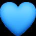 💙 blue heart Emoji on Facebook Platform