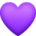 💜 purple heart Emoji on Facebook Platform