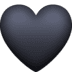 🖤 black heart Emoji on Facebook Platform