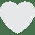 🤍 white heart Emoji on Facebook Platform