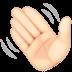 👋🏻 waving hand: light skin tone Emoji on Facebook Platform