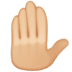 🤚🏼 raised back of hand: medium-light skin tone Emoji on Facebook Platform