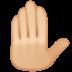 🤚🏼 Medium-Light Skin Tone Raised Back of Hand Emoji on Facebook Platform